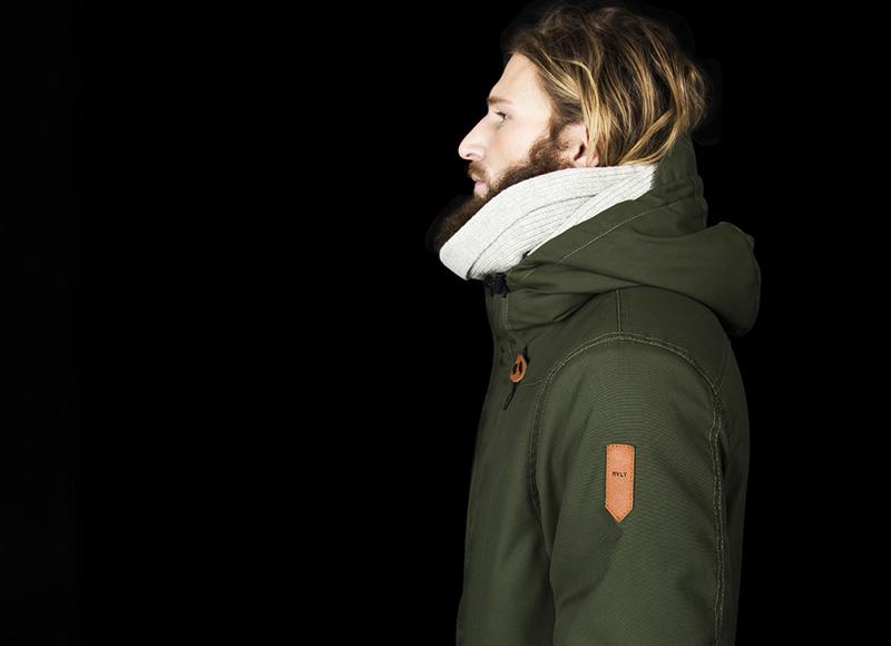 RVLT (Revolution) – zimní bunda s kapucí, pánská, zelená | Pánské značkové oblečení, móda