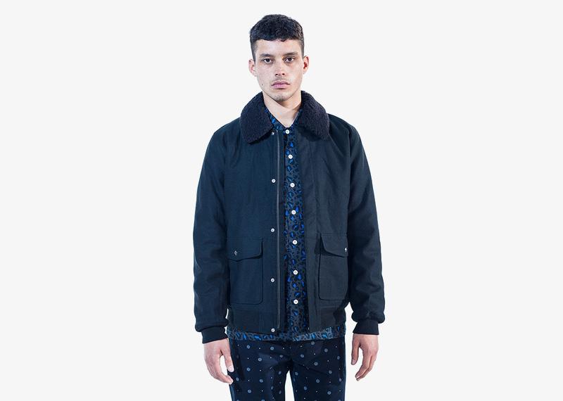 Carhartt WIP – podzimní/zimní bunda bez kapuce, modrá, pánská | Pánské značkové podzimní/zimní oblečení