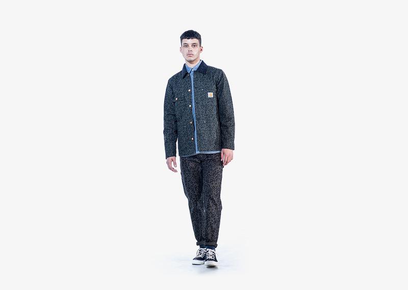 Carhartt WIP – pánská podzimní bunda a kalhoty s leopardím (gepardím) vzorem | Pánské značkové podzimní/zimní oblečení