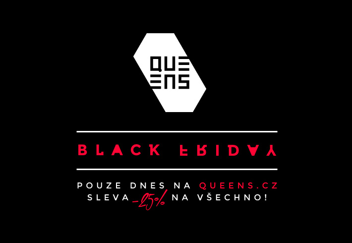 Black Friday v e-shopu Queens.cz se slevami 25–30 %