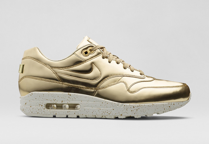 Dámské boty Nike Air Max 1 Liquid Metal ve zlatém a stříbrném provedení 543dd69f2c