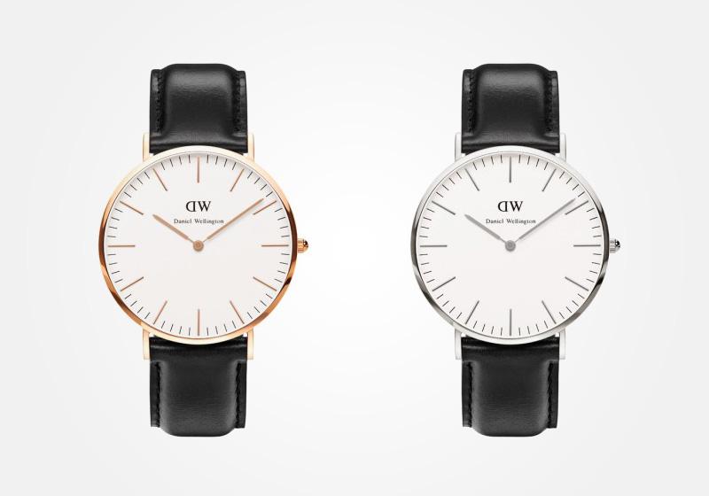 Daniel Wellington – hodinky pánské, elegantní – Classic Sheffield – černý náramek, bílý ciferník
