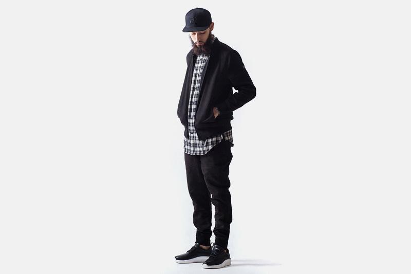 Unyforme – černá bomber, mikina, černé joggers kalhoty s gumou v nohavicích | Pánské značkové oblečení