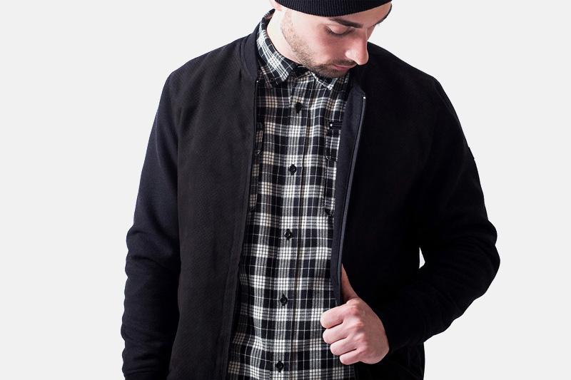 Unyforme – černý bomber – pánský, kostkovaná košile | Pánské značkové oblečení
