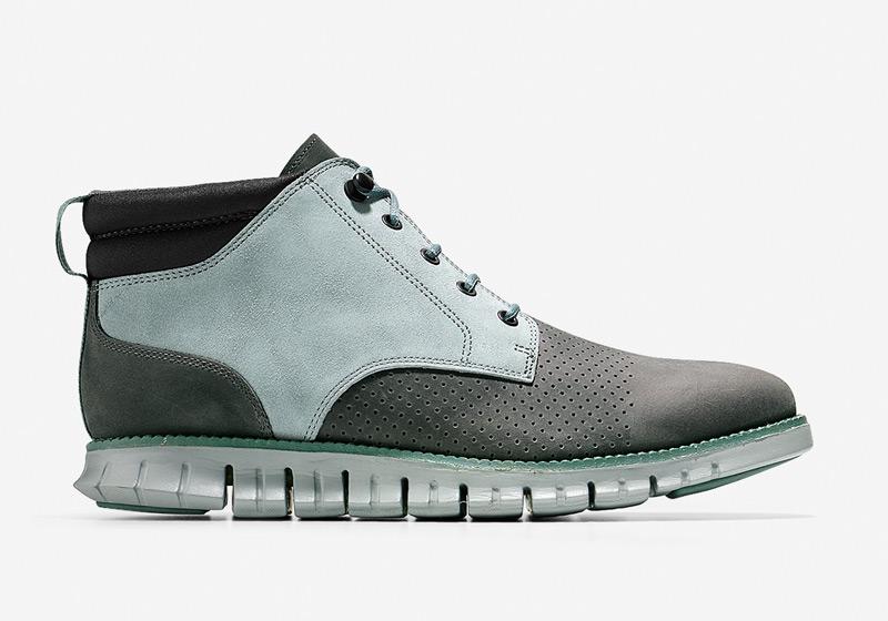 Cole Haan ZeroGrand Boot – pánské zimní boty, vysoké šedo-modré boty, kotníkové boty, sportovní podrážka