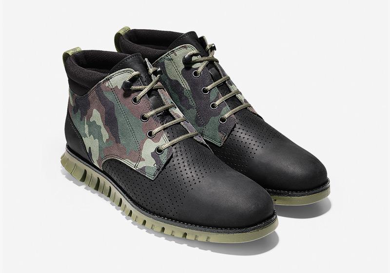 Cole Haan ZeroGrand Boot – pánské zimní boty, kotníkové maskáčové boty, vysoké, černé, sportovní podrážka