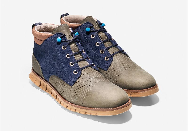 Cole Haan ZeroGrand Boot – pánské zimní boty, kotníkové hnědo-modré boty, vysoké boty, sportovní podrážka