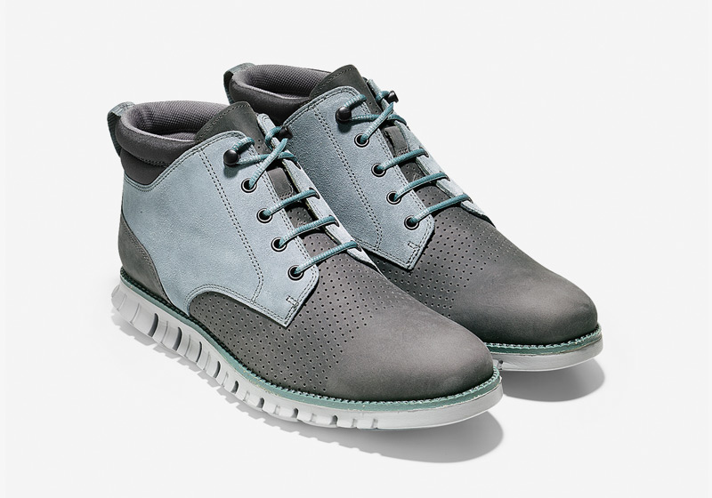 Cole Haan ZeroGrand Boot – zimní boty, pánské kotníkové šedo-modré boty, vysoké boty, sportovní podrážka