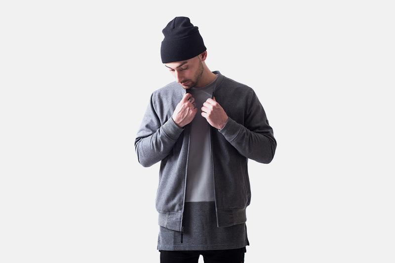 Unyforme – pánský šedý bomber, mikina | Pánské značkové oblečení
