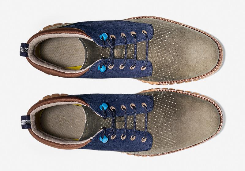 Cole Haan ZeroGrand Boot – vysoké boty, kotníkové hnědo-modré boty, pánské zimní boty, sportovní podrážka