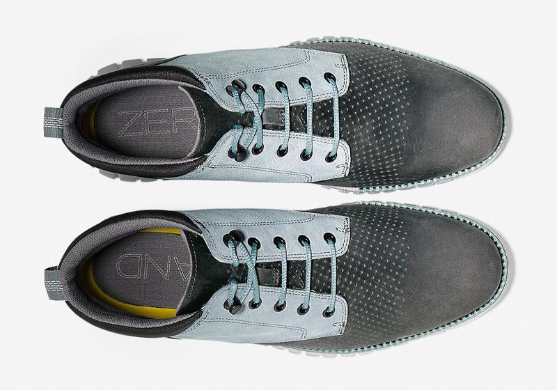 Cole Haan ZeroGrand Boot – vysoké boty, kotníkové šedo-modré boty, pánské zimní boty, sportovní podrážka