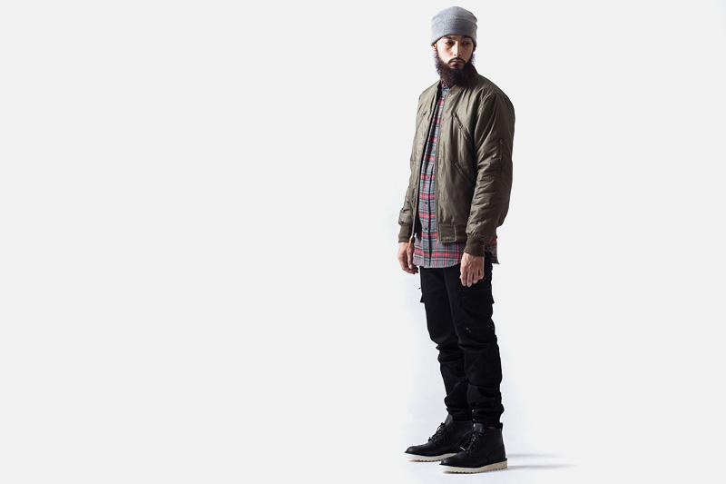 Unyforme – pánský tmavě zelený (olivový) bomber, černé kalhoty | Pánské značkové oblečení