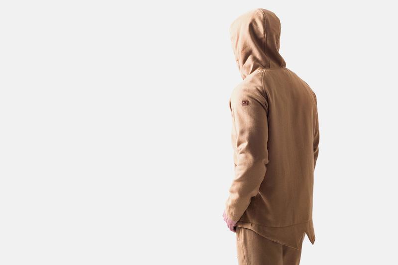 Unyforme – béžová mikina s kapucí, fish tail | Pánské značkové oblečení