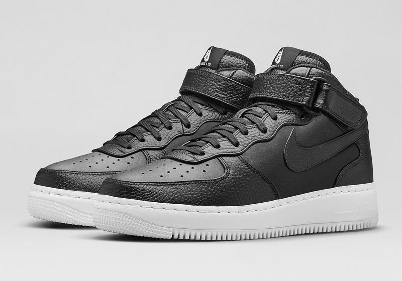 Kotníkové boty Nike Air Force 1 Mid CMFT – černé, pánské, dámské, sneakers, tenisky