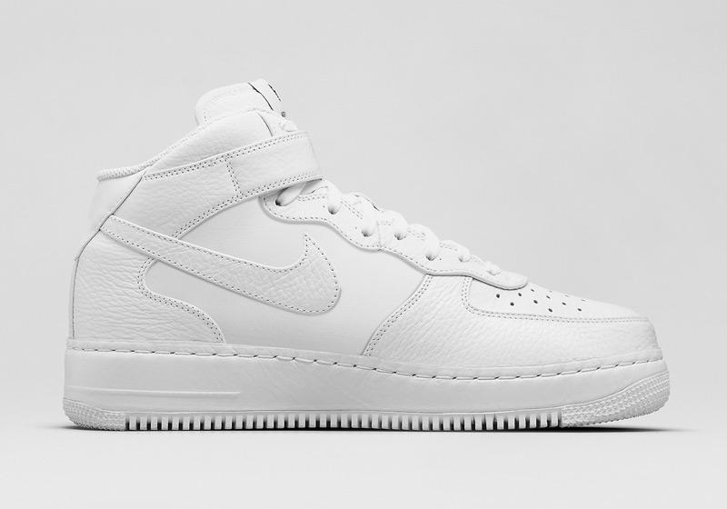 Kotníkové boty Nike Air Force 1 Mid CMFT – bílé, pánské, dámské, sneakers, tenisky