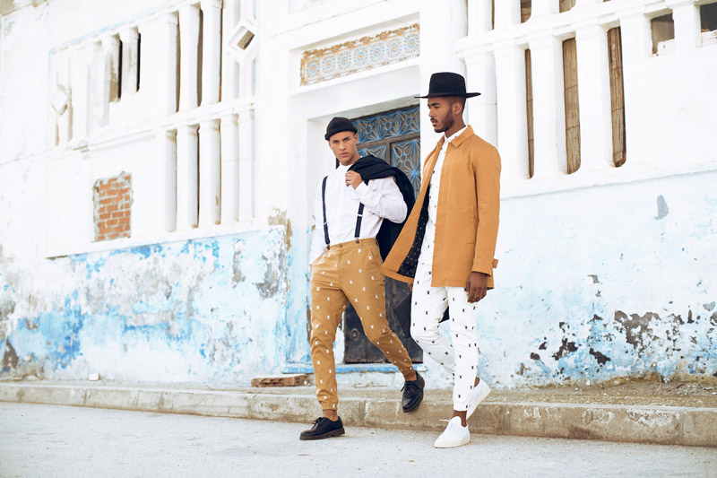 Daily Paper – pánské kalhoty joggers se symboly – bílé, béžové, jarní/letní bunda (kabát)