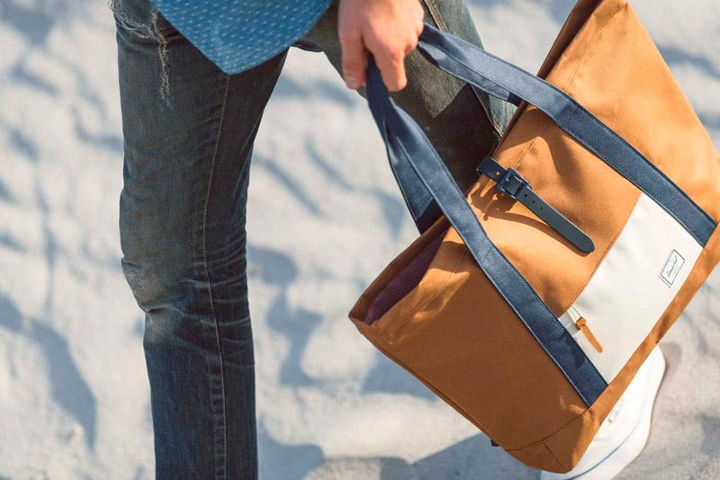 Batohy Herschel Supply – lookbook – jaro 2015, plážová/nákupní taška do ruky Market Tote, béžová