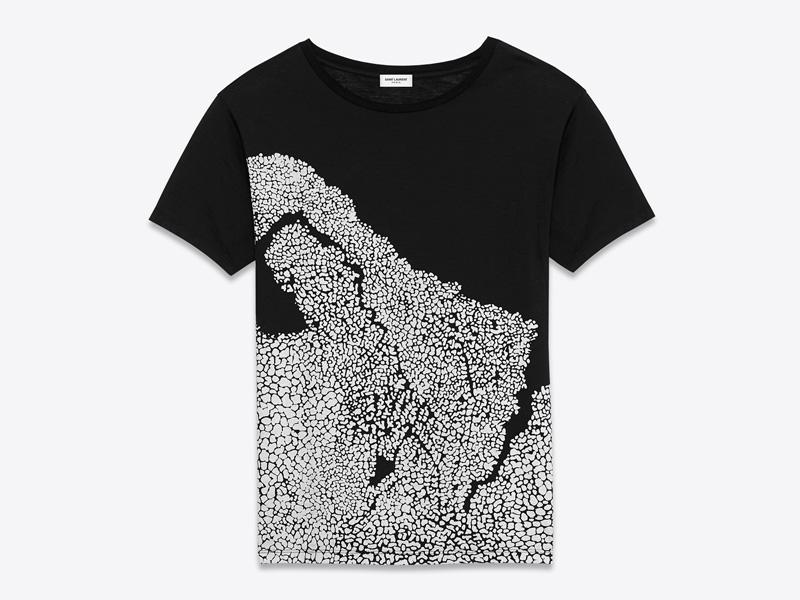 Bruce Conner x Saint Laurent – luxusní tričko s potiskem, černé, Untitled March 2, 1978