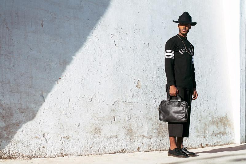 Daily Paper – pánská – černá mikina s potiskem