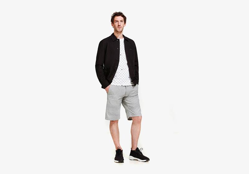 Carhartt WIP – jarní/letní krátká bunda – pánská, pánské šedé šortky (kraťasy)