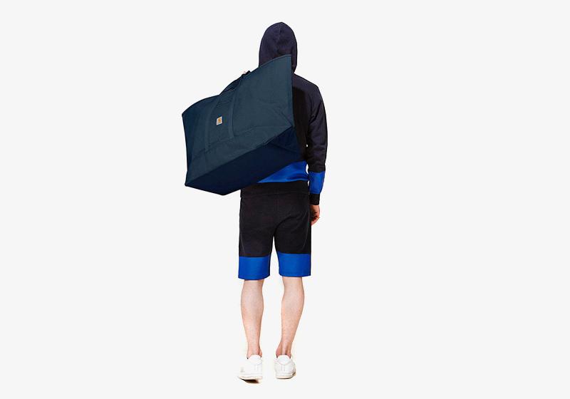 Carhartt WIP – modré dvoubarevné šortky – pánské, dvoubarevná pánská mikina – modrá