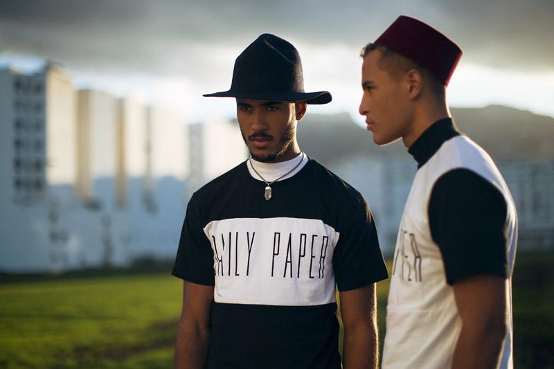 Daily Paper – pánské černo-bílé tričko