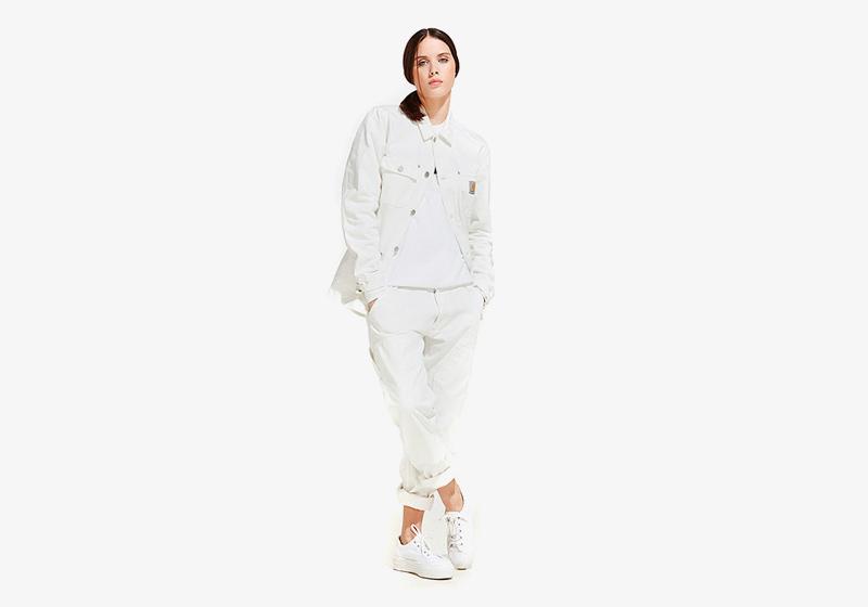 Carhartt WIP – bílá jarní/letní bunda – dámská, bílé kalhoty