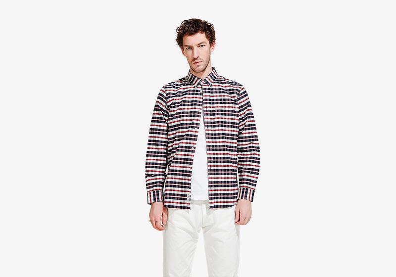 Carhartt WIP – proužkovaná pánská košile s dlouhým rukávem