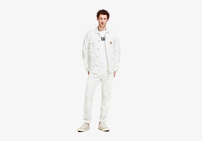 Carhartt WIP – pánská bílá jarní/letní bunda, bílé kalhoty