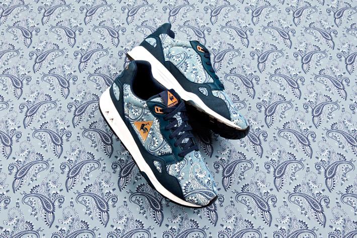 Le coq Sportif — tenisky a běžecké boty se vzorem Paisley z dílny Liberty