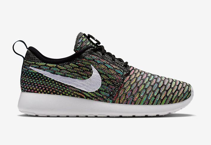 Nike Roshe Run Flyknit – běžecké boty, barevné tenisky