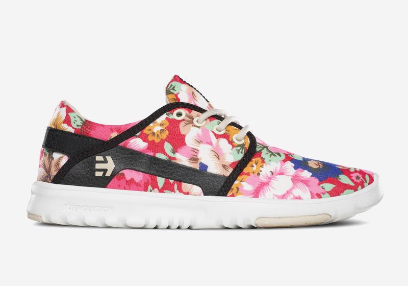 Etnies Scout – dámské boty, běžecké tenisky, barevné, kvetinove