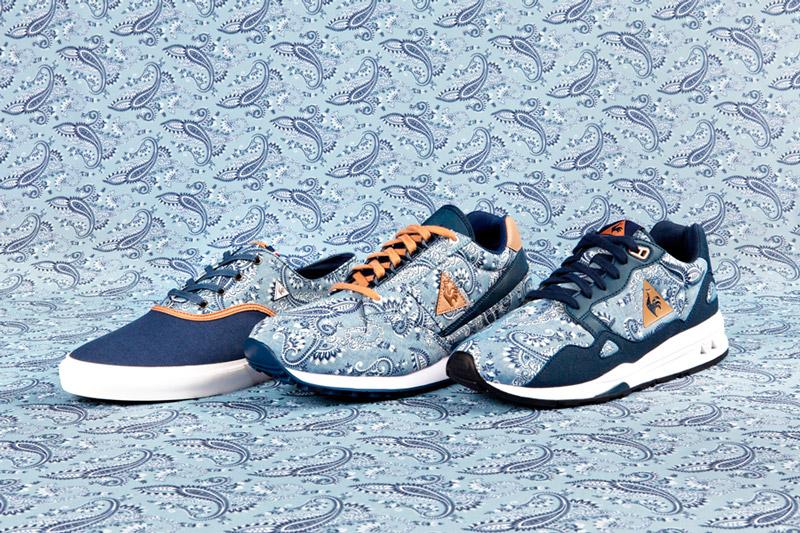 Le Coq Sportif x Liberty – tenisky a běžecké boty se vzorem Paisley, modré, Lagache Cvs, Eclat, LCS R 900