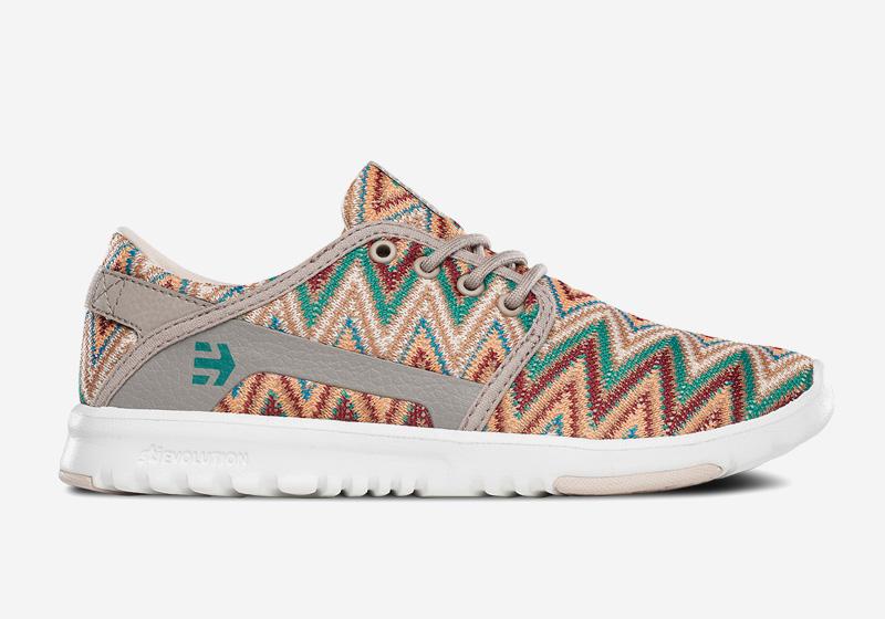 Etnies Scout – dámské boty, běžecké tenisky, barevný klikatý vzor