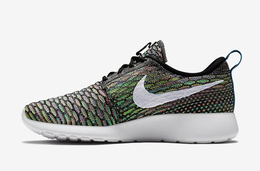 Nike Roshe Run Flyknit – běžecké boty, tenisky, dámské – multicolor, barevné