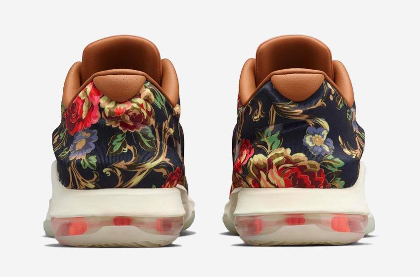 Nike KD 7 EXT Floral – basketbalové boty, květinový vzor, Kevin Durant, saténový svršek