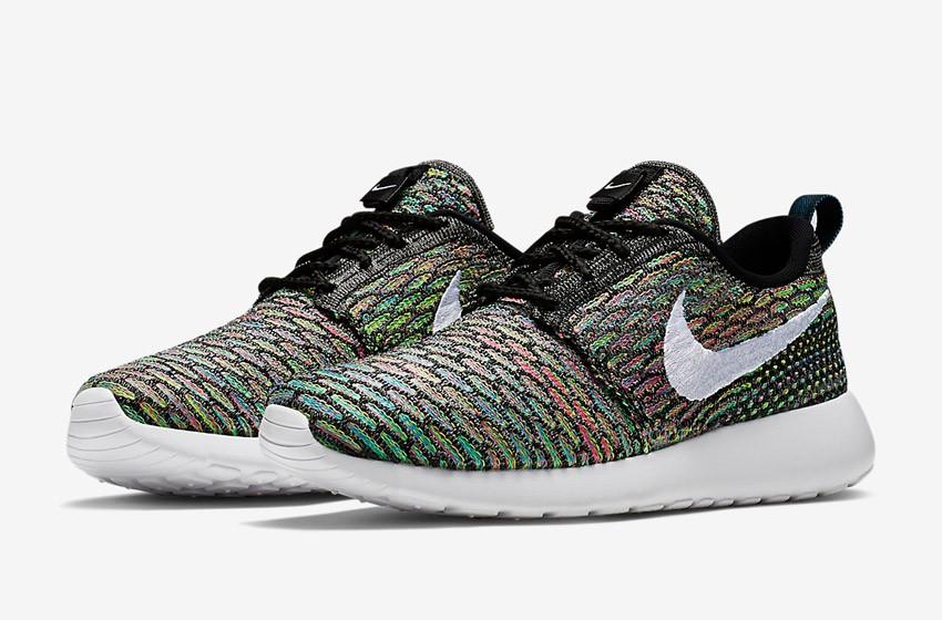 Nike Roshe Run Flyknit – běžecké boty, tenisky, dámské – barevné, multicolor