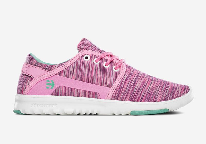 Etnies Scout – dámské tenisky, běžecké boty, růžové, vzorované