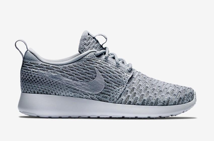 Nike Roshe Run Flyknit – běžecké boty, tenisky, dámské – šedé