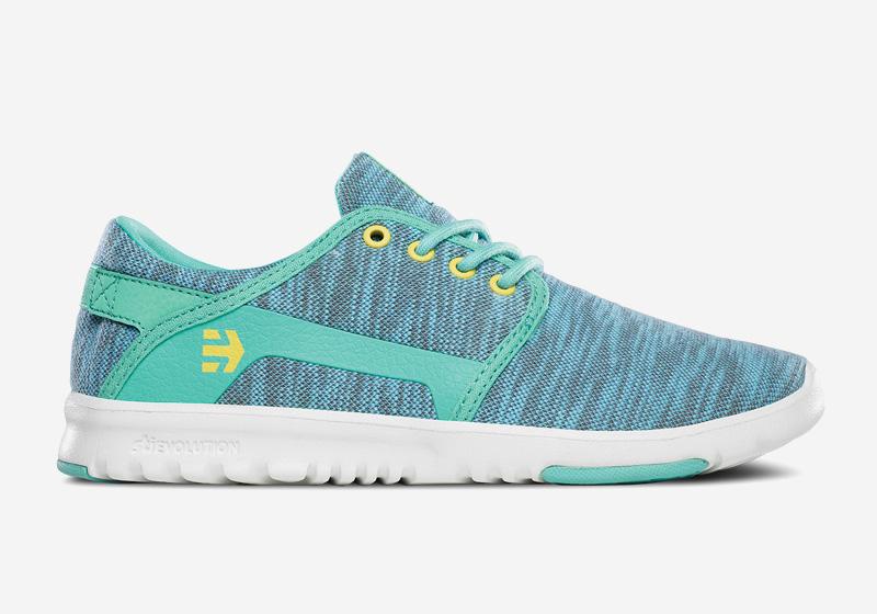 Etnies Scout – dámské boty, běžecké tenisky, modré, vzorované
