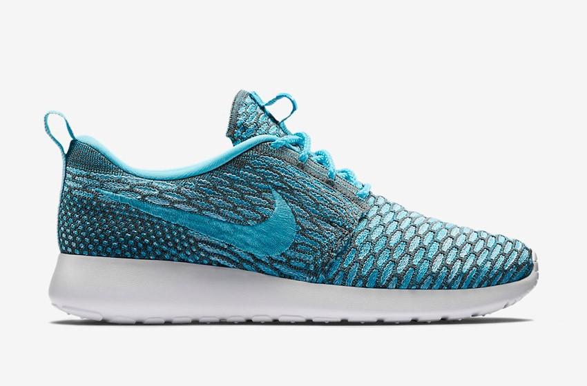 Nike Roshe Run Flyknit – běžecké boty, tenisky, dámské – modro-šedé