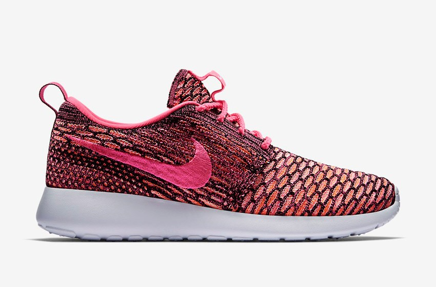 Nike Roshe Run Flyknit – běžecké boty, tenisky, dámské – červeno-růžové