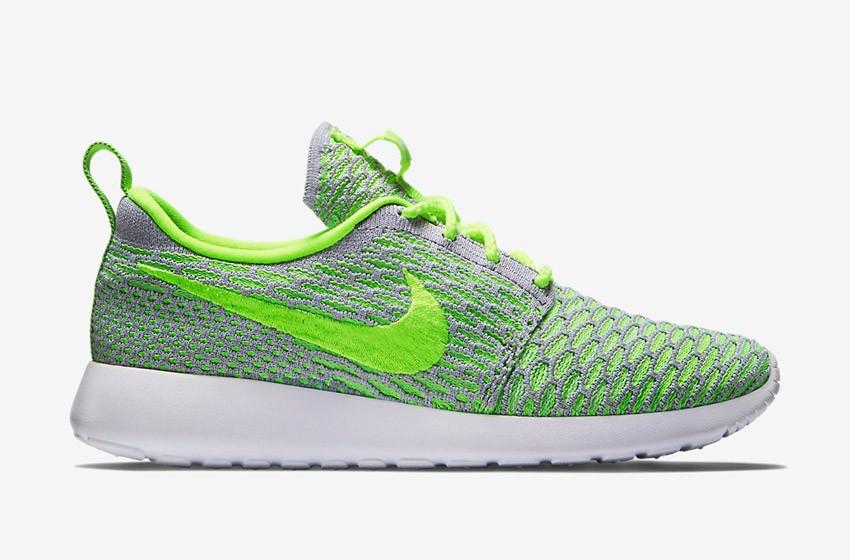 Nike Roshe Run Flyknit – běžecké boty, tenisky, dámské – zeleno-šedé