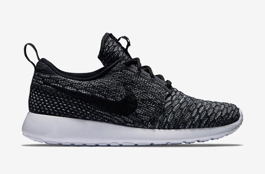 Nike Roshe Run Flyknit – běžecké boty, tenisky, dámské – černé