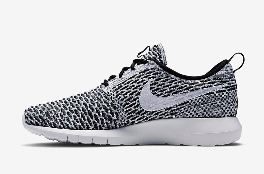 Nike Roshe Run Flyknit – běžecké boty, tenisky, pánské – šedé
