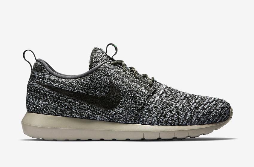 Nike Roshe Run Flyknit – běžecké boty, tenisky, pánské – tmavě šedé