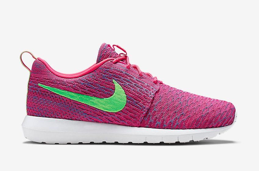 Nike Roshe Run Flyknit – běžecké boty, tenisky, pánské – růžové