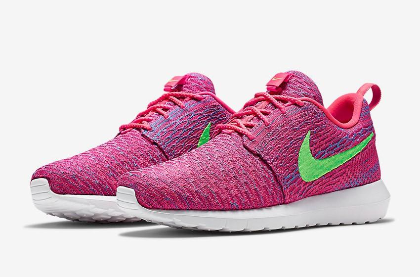 Nike Roshe Run Flyknit – běžecké boty, tenisky, pánské a dámské – růžové