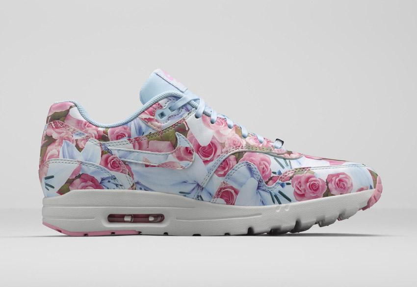 Nike Air Max 1 Ultra City — dámské boty s květinovými vzory