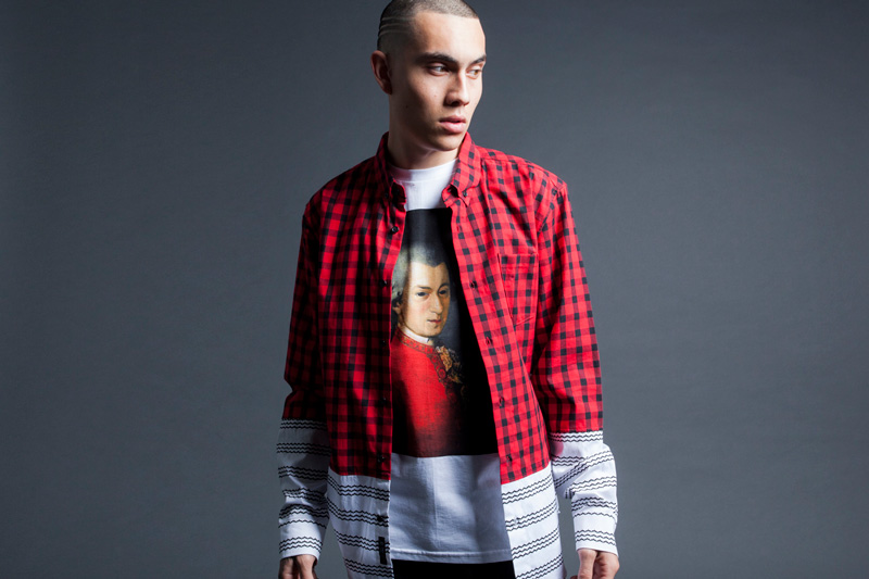 Black Scale – károvaná (kostkovaná) flanelová pánská košile s dlouhým rukávem – červená, tričko s potiskem – jaro2015